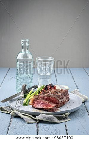 Sirloin Steak on Plate