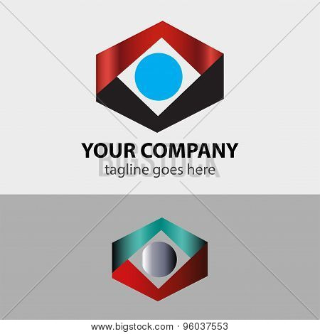 Business rhombus abstract vector design sign template