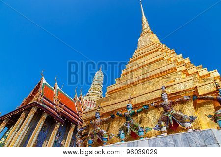 Wat Phra Kaew - the Temple of Emerald Buddha in Bangkok Thailand