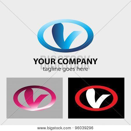 Letter V logo icon vector design template.