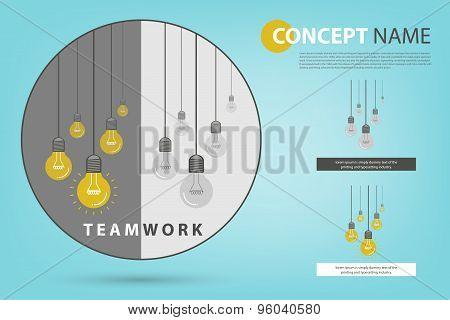 Teamwork Creates More Brighten Idea