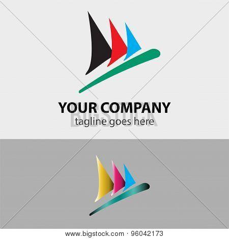 Sailboat speed sign symbol vector illustration template.