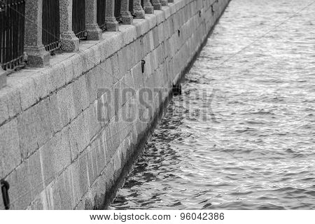 Architecture Of The Embankment From A Stone