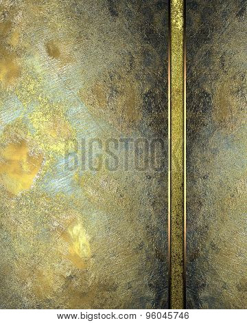 Background Of Gold Metal Plates For The Label. Element For Design. Template For Design. Abstract Gru