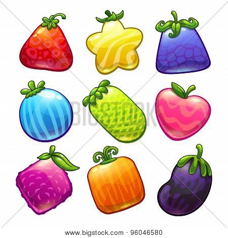 Funny fantastic fruits