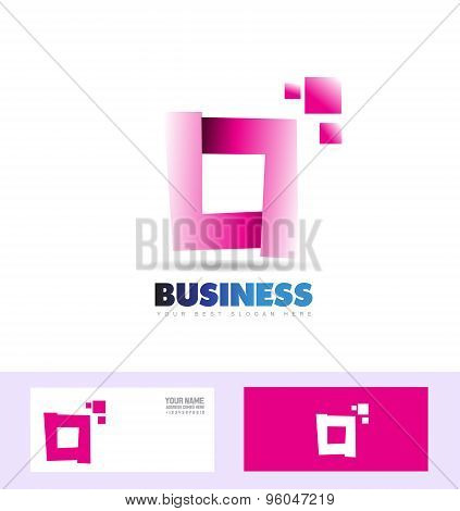 Purple Pink Corporate Business Square Logo