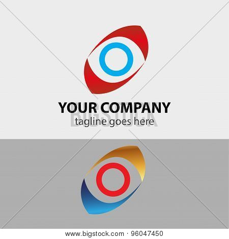 Abstract symbol of eye vector illustration template.