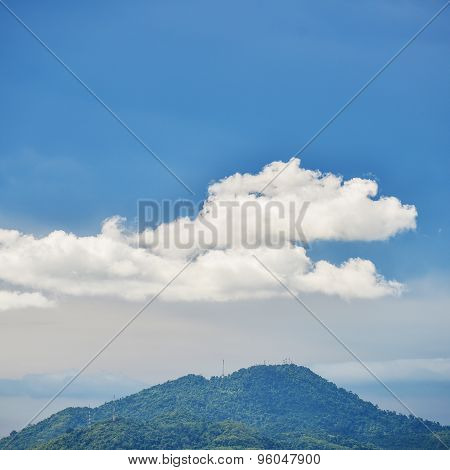 The big blue sky in Thailand