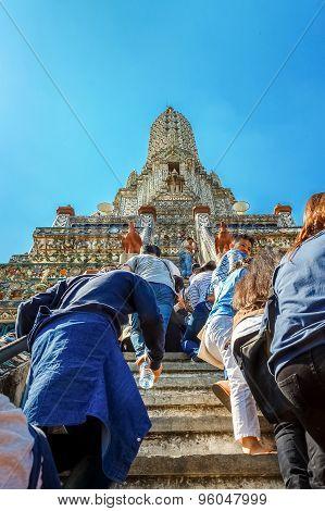 Pagoda at Wat Arun - Temple of Dawn in Bangkok, Thailand