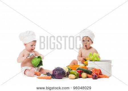 Little chefs cook