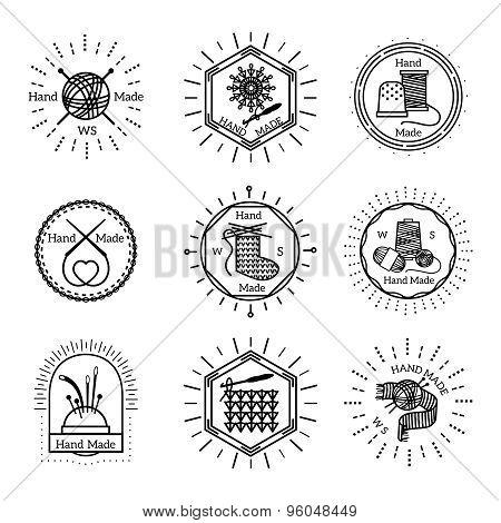 Vintage handmade badges and logo