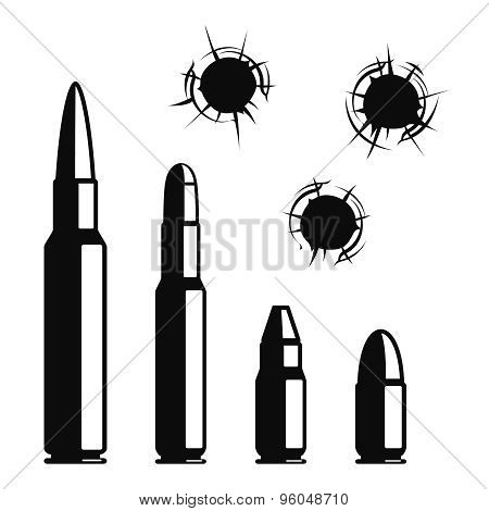 Vector bullet holes