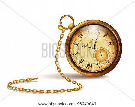 Gold vintage clock.
