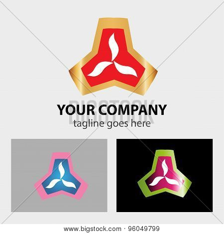 Abstract colorful logo triangle design element