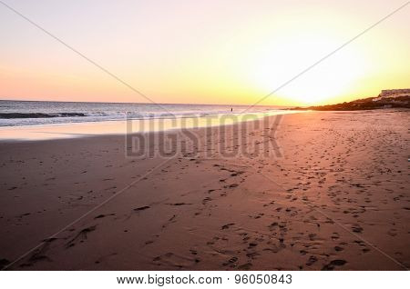 Sunset on the Atlantic Ocean