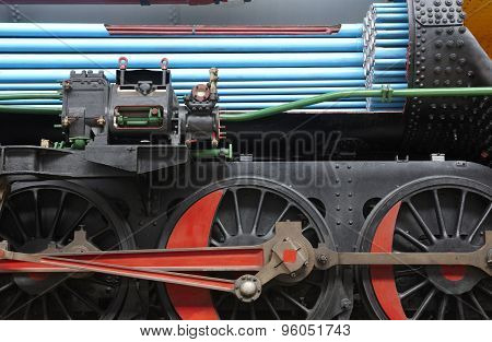 Steam Locomotive Machinery Section Detail