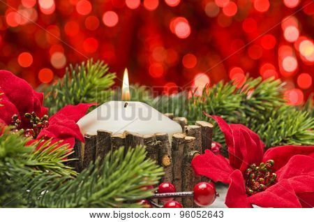 Candles In Autumn Winter Decoration