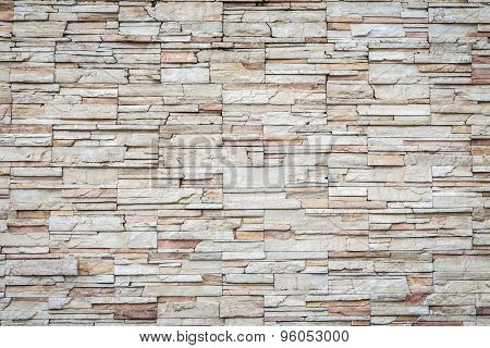 Pattern Of Travertine Natural Stone Wall Texture And Background