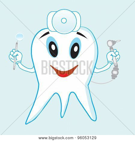 Funny tooth dentist tools