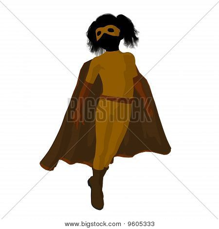 Super Hero Girl Illustration Silhouette