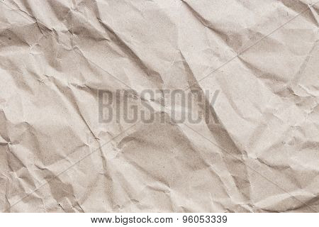 Brown Crumpled Paper Texture And Background