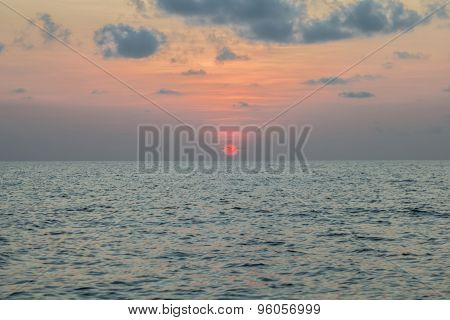 Sunset At Sea, Koh Phangan,surat Thani, Thailand