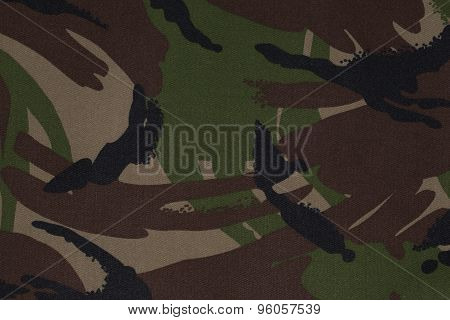 A Section Of British Dpm Camouflage Fabric