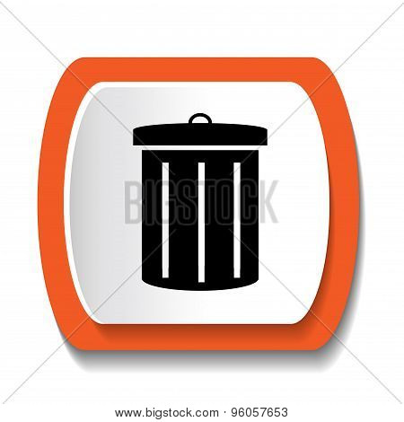 icon with the image of the garbage can