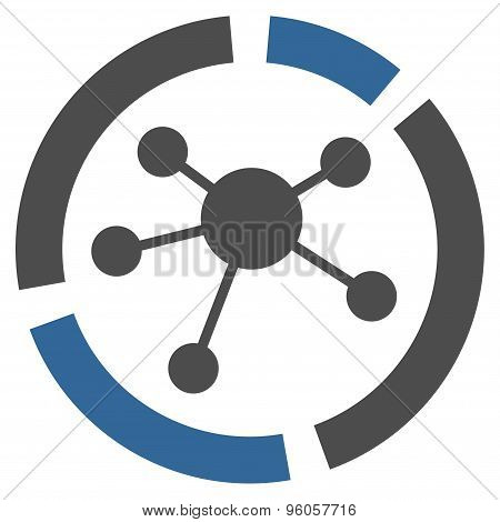Connections diagram icon from Business Bicolor Set