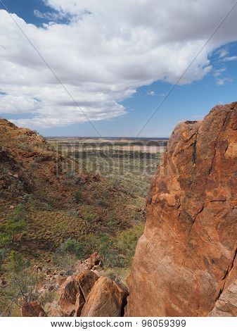 Look down over the outback from the slopes of Mount Gillen