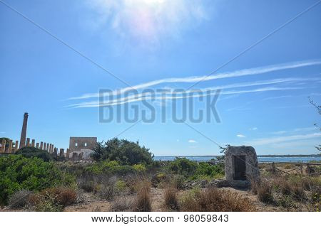 The Ruins Of Old Tuna Fishery In Sicily