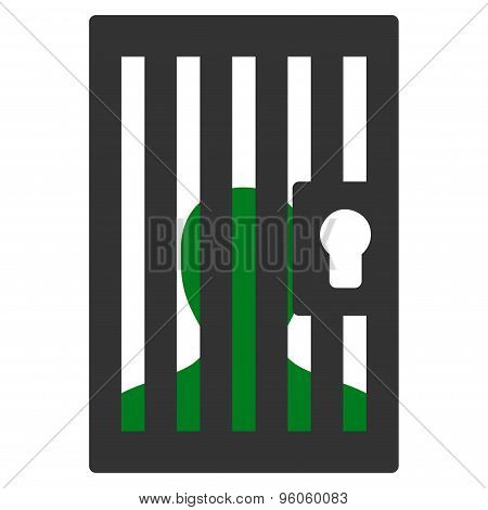 Prison icon from Business Bicolor Set