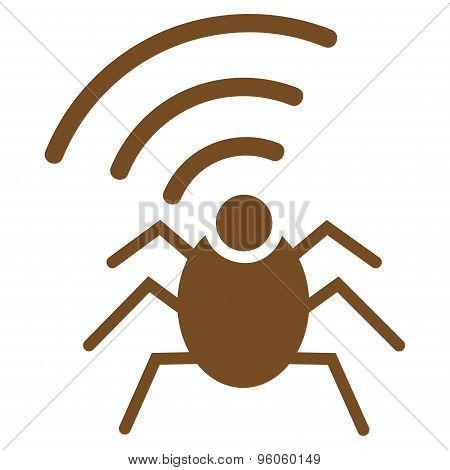 Radio spy bug icon from Business Bicolor Set