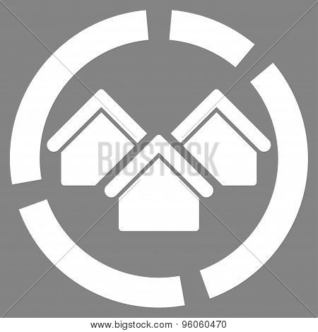 Realty diagram icon from Business Bicolor Set