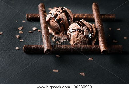 Dessert Of Chocolate Ice Cream