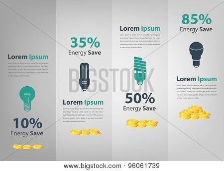 Saving Energy Comparison Report Infographic