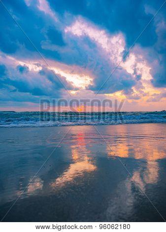 Sunrise in Chaweng Koh Samui island Thailand