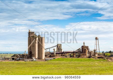 Cement Plant During Sunny Day