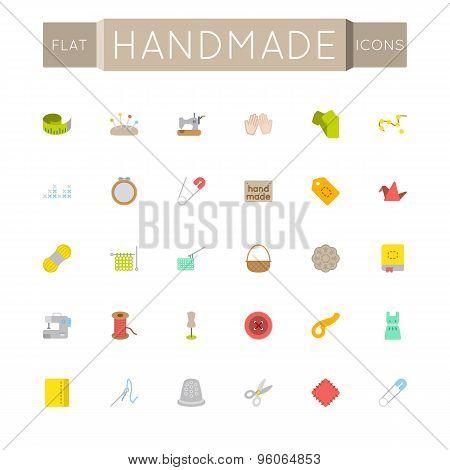 Vector Flat Handmade Icons