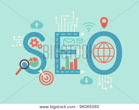 SEO concept flat illustration