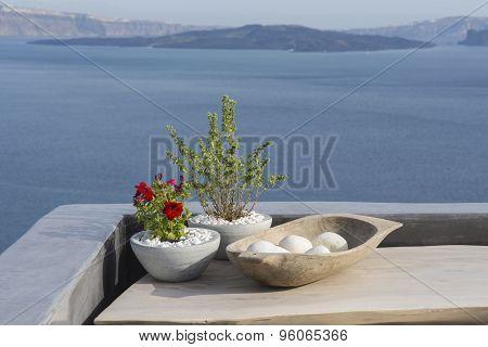 Santorini island, beautiful decoration details