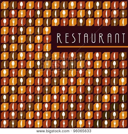 Background Menu Restaurant Icon Set with Icon Food