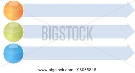 blank business strategy concept infographic arrow list diagram illustration three 3 steps