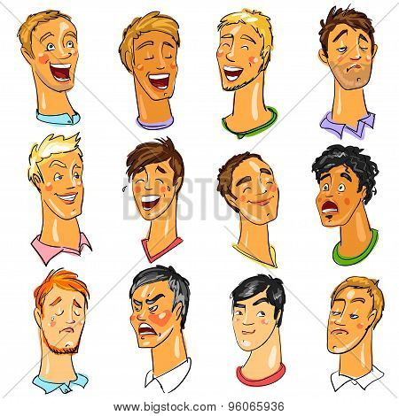 Male faces - Expressions.