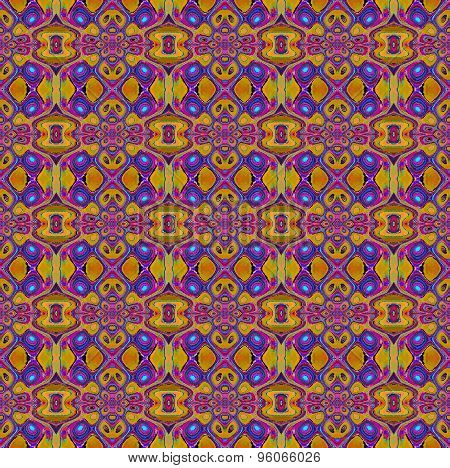 Seamless pattern orange blue