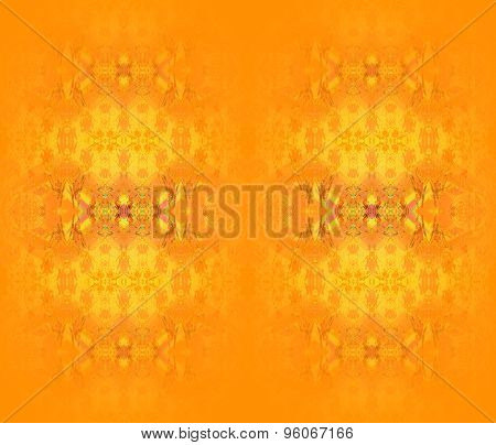 Seamless pattern orange yellow