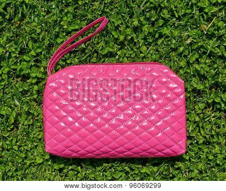 Pink Beauty Case Or Cosmetics Purse