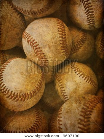 Vintage baseball background