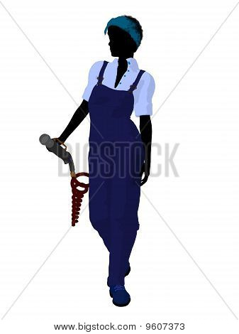 Female Mechanic Silhouette