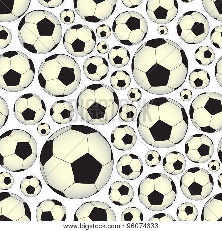 Soccer And Football Balls Seamless Vector Pattern Eps10